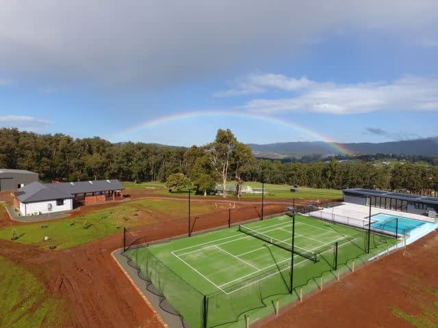On #TennisTuesday, check out #FieldTurfAustralia Tennis Elite looking absolutely amazing in this gorgeous landscape in #Wandin, #Victoria. 🎾  Thank you @astesyntheticturf  for this terrific install!  #artificialgrass #syntheticturf #syntheticgrass #artificialturf #syntheticgrassvictoria #australianmade #syntheticgrasstenniscourts #syntheticgrasstenniscourt #tennis #tennisislife #tennisforever #tennislove #tennis #australia
